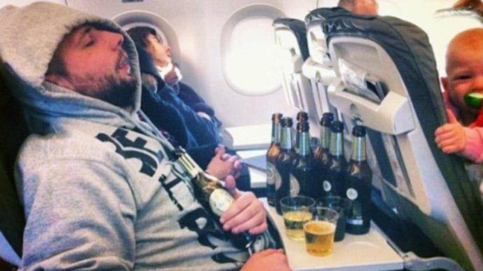 drinking-on-a-plane