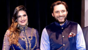 shahid-afridi-and-zareen-khan