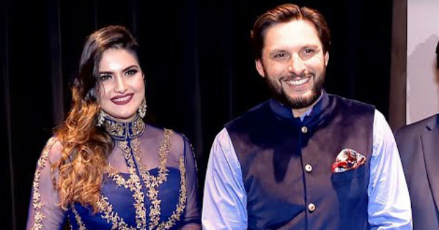 shahid-afridi-and-zareen-khan